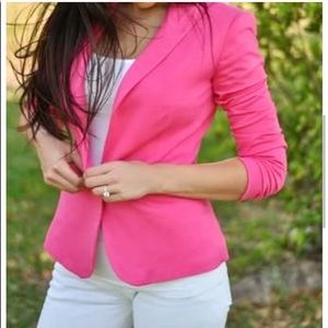 ZARA Basic Women's Pink Blazer Size S Long Sleeve